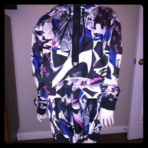 NWT Nike Women's Newsprint Half-Zip Jacket